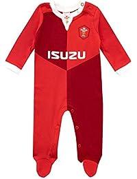 WRU Baby Boys Wales Rugby Sleepsuit