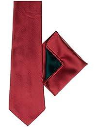 Diseño de cachemira de Londres, palo de golf para niños rojo de cordones para las cortinas, palo de golf para niños rojo de estampado a cuadros de bolsillo, incluye pañuelo de bolsillo