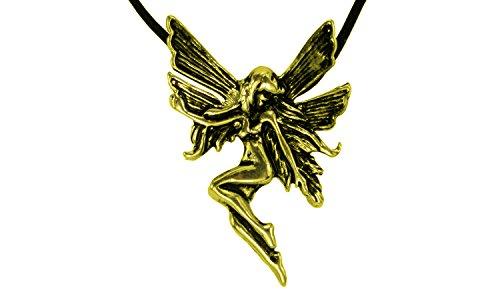 Erlebnis-Mittelalter Wikinger / LARP / keltisch / Mittelalter Anhänger, verzinnt und nickelfrei (Anhänger Elfe gold)