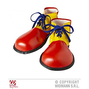 WIDMANN wdm9146p ? Costume For Adults Clown Shoes Adult Size, Multicoloured, One Size