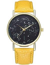 Reloj de Cuarzo para Adolescentes, Estudiantes, Planeta, Cortex, Color Amarillo