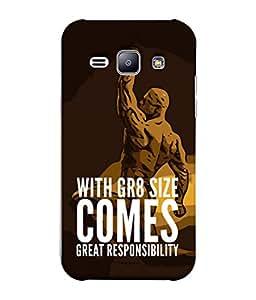 Fuson Designer Back Case Cover for Samsung Galaxy J1 (2015) :: Samsung Galaxy J1 4G (2015) :: Samsung Galaxy J1 4G Duos :: Samsung Galaxy J1 J100F J100Fn J100H J100H/Dd J100H/Ds J100M J100Mu (Selfie Status Taj Muscular man Herculas )