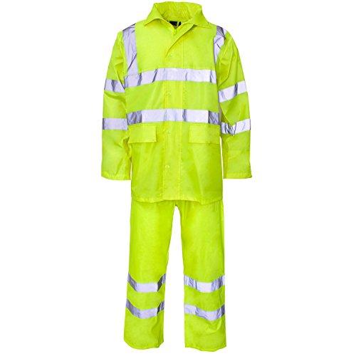 Supertouch Polyester/PVC HI-VIS Rain Suit -,