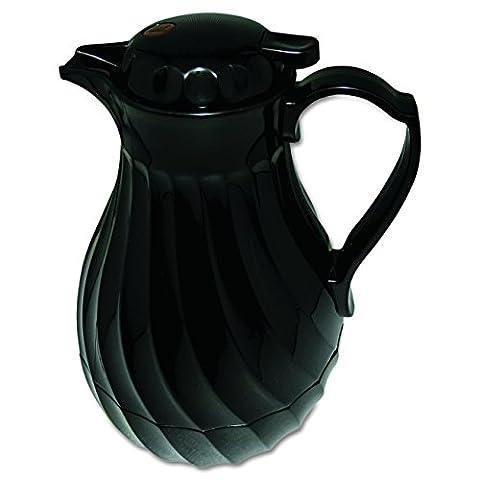 Hormel HOR4022B Insulated Plastic Carafe Swirl, 40 oz, Black