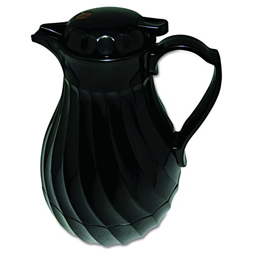 poly-lined-carafe-swirl-design-40oz-capacity-black-sold-as-1-each