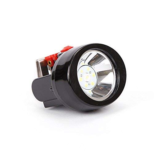 Mining Llight Rechargeable Headlamp Lamp Miners LED Headlamps Flashlight KL2.8LM Camping Lights for Night Running Fishing Hunting Waterproof Explosion-Proof (Red)