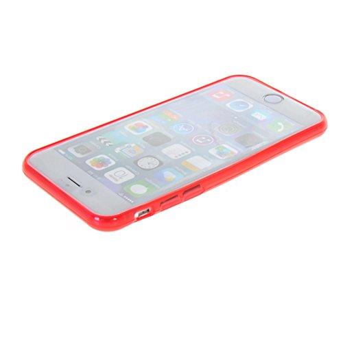 MOONCASE TPU Silicone Housse Coque Etui Gel Case Cover Pour Apple iPhone 6 Plus Vert Rouge
