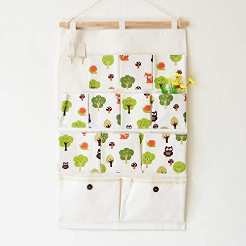Eletam 12 Taschen mit Haken Lagerung Baum wasserdichte Aufbewahrungstasche einzelnen Schulter-Beutel-Einkaufstasche Bewegliche Beutel-Kasten-Paket Paket (Baum Lagerung)