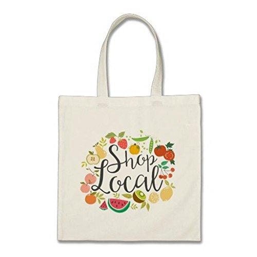 Shop locali Tote budget Tote bag in tela di cotone