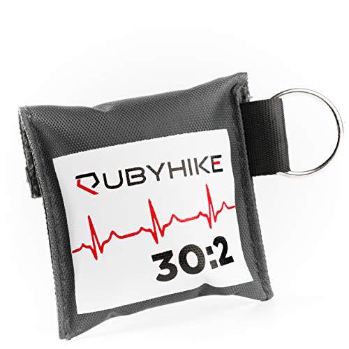 Erste-Hilfe-Schlüsselanhänger für Ersthelfer - Notfall-Set mit Beatmungstuch und Einmalhandschuhen - Hygiene für Laienhelfer - zeitloses Design für Handtasche, Rucksack, Schlüsselbund (einzeln) - Reanimation Tasche