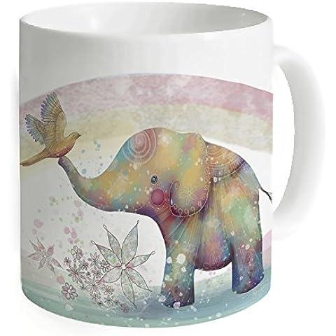 """okoukiu elefante indiano Mug–Tazza da tè personalizzato regalo per compleanno, Natale e nuovo year-3.7""""X 3.1"""", 11oz"""