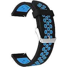 TianranRT Doble Color Sport Correa de Pulsera de Silicona para Samsung Galaxia Reloj, D,