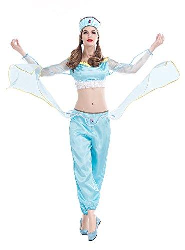 Sexy Wench Kostüme Serving (Damen Sexy Aladdin 's Lampe Halloween Kostüm)