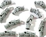 Lego 61903Technic–Union klein (Gimbal 3Zapfen, 10Stück, hellgrau