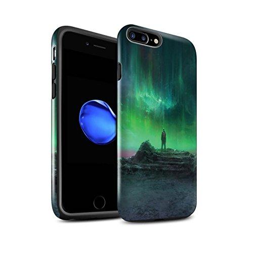 Offiziell Chris Cold Hülle / Glanz Harten Stoßfest Case für Apple iPhone 8 Plus / Arcularius Nebel Muster / Fremden Welt Kosmos Kollektion Polarlicht