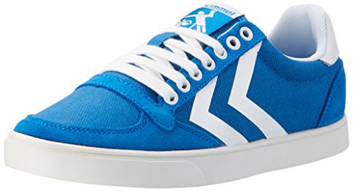 Hummel Slimmer Stadil Waxed Canvas Lo-Top, Sneakers Basses Mixte Adulte Bleu (Imperial Blue)