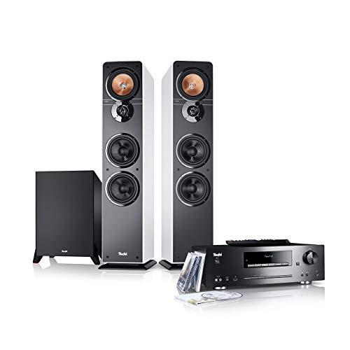 Teufel Ultima 40 Kombo Power Edition Weiß Stereo Lautsprecher Musik Sound Hochtöner Mitteltöner Bass Speaker High End HiFi Tieftöner Schalldruck