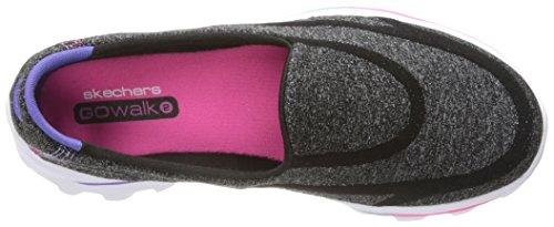 Skechers Go Walk 2 Super Sock, Baskets Basses Fille Noir