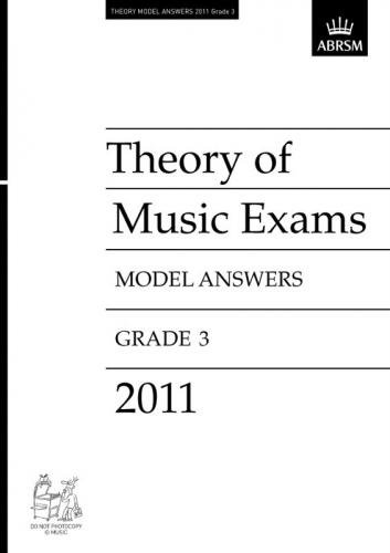 Theory of Music Exams 2011 Model Answers, Grade 3 Cover Image