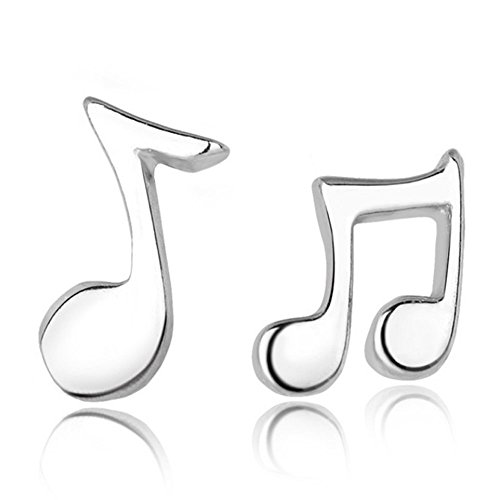 (Belons 925 Sterling Silber Mädchen Mini Musiknote Ohrstecker Ohrringe Note Earrings)