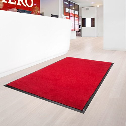 casa pura® Dirt Trapper Entrance Mat | Non Slip | 8 Sizes Available | Red - 200x200cm