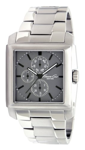 Kenneth Cole Men's Quartz Watch with Grey Dial Analogue Display and Silver Stainless Steel Bracelet KC9066