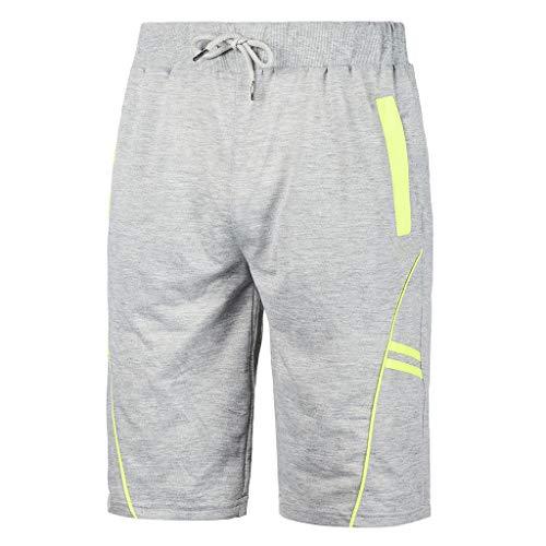 Beikoard Pantalones Cortos Deportivos Hombre,Pantalones Cortos con Estampado de Rayas de Primavera y Verano para Hombre