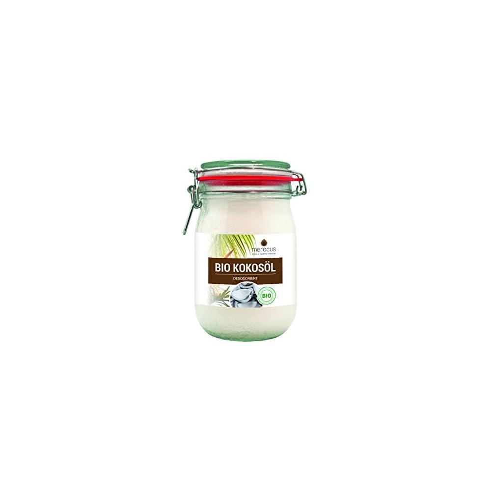Meracus Bio Kokosl Geschmacksneutral Desodoriert Im Bgelglas 1er Pack 1 X 1 L