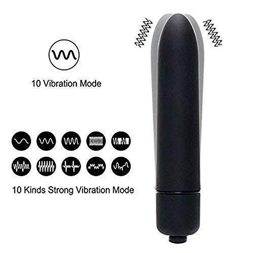 XGCI Mini Original Wasserdichte Vibrator 10 Frequenz Vibrations geschwindigkeit, G-Punkt Stimulation Klitoris Sexspielzeug Masturbation Vibrator, schwarz
