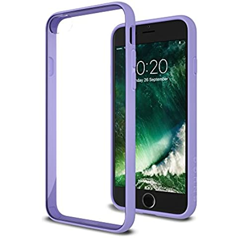 Funda iPhone 7, Carcasa Snugg Anti-Impacto para Apple iPhone 7 [Clear Back] Revestimiento de TPU, Diseño Ultrafina – Púrpura, Vision Range