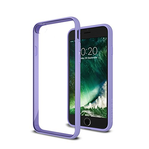 Cover iPhone 7 and 8, Snugg Apple iPhone 7 and 8 Custodia Case [Fondello Trasparente] TPU Ultra-Slim Pelle – Verde, Vision Range Purple
