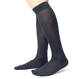 Ciocca Calze uomo lunghe, pregiato cotone 100% FILO SCOZIA – 6 Paia – tre taglie calze