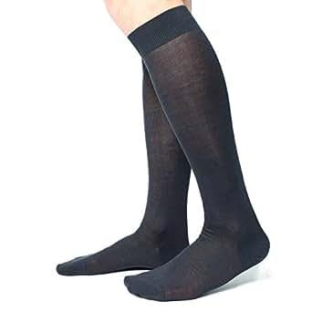Ciocca Calze uomo lunghe, pregiato cotone 100% FILO SCOZIA - 6 Paia - tre taglie calze (40/41, Antracite)