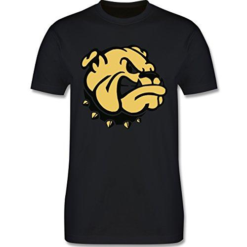 Hunde - Bulldogge - Herren Premium T-Shirt Schwarz