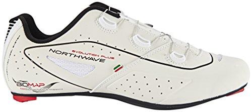 Northwave Evolution Plus Wide Rennrad Fahrrad Schuhe weiß 2017 reflective white