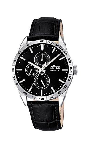 Lotus 18219/4 - Reloj de pulsera hombre, Cuero, color Negro