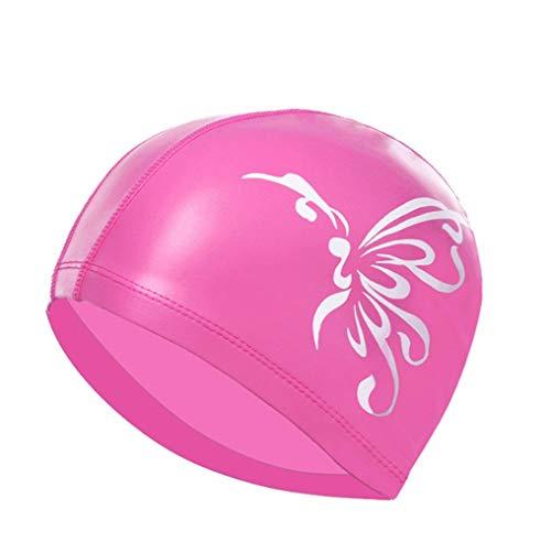IQDQ Cuffia per Il Nuoto Protezione Solare Femminile per Capelli Lunghi Adulti PU per Aumentare La Protezione Professionale Dell'orecchio Moda Cuffia