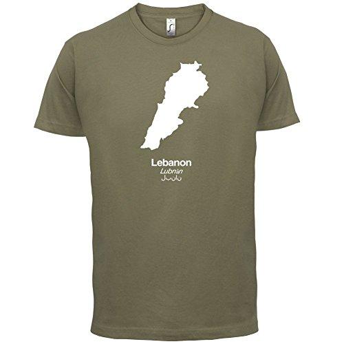 Lebanon / Libanon Silhouette - Herren T-Shirt - 13 Farben Khaki