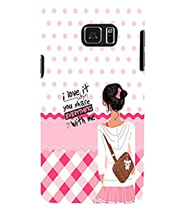 PRINTSWAG GIRL QUOTE Designer Back Cover Case for SAMSUNG GALAXY NOTE 5 EDGE