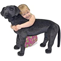 Melissa & Doug 12117 Giant Black Lab Lifelike Stuffed Animal Dog, 0.5 m