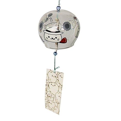 Furin japonés campanas de viento, hecho a mano de cristal regalo para el día de la madre de Navidad Craft, cumpleaños, bodas hogar cocina oficina SPA jardín Patio Decoración. Cartoon