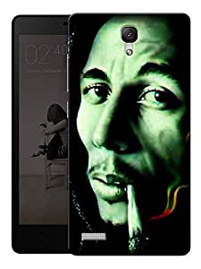 """Humor Gang Bob Marley Stoned Printed Designer Mobile Back Cover For """"Xiaomi Redmi Note - Note 4G"""" (3D, Matte Finish, Premium Quality, Protective Snap On Slim Hard Phone Case, Multi Color)"""
