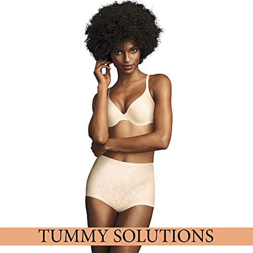 Maidenform Damen Miederslip Jaquard Instant Slimmer Brief Off-White (Blush)