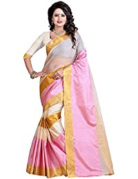 Sr Cotton Saree With Blouse Piece (Srstudio_Pink_Free Size)