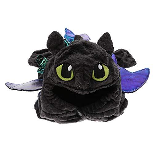 D DOLITY Haustier Hund Katze Halloween Drachen Kostüm Cosplay Kleidung - Schwarz, - Schwarz Drachen Kostüm