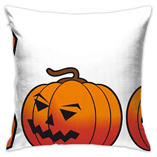 tiao9143 Kissenbezüge Halloween-Boo-with-pupkins A Comfortable Pillow Case Double-Sided (Including Pillow) 100% Cotton Unique Design Graphic