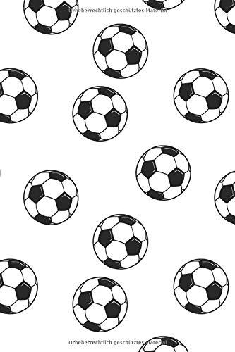 Fussball Muster - Torhüter Stürmer Fans Verein 09: Unliniertes Notizbuch mit Rahmen für Fußballspieler und Fußballfans -