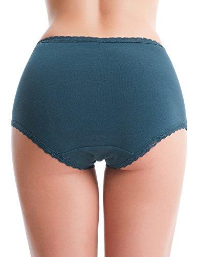 CharmLeaks Damen Panties Baumwolle Hipster Mit Spitze Grace Serie 4er Pack Mehrpack Hoher Bund
