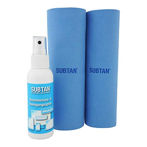 SUBTAN blue Set - zum Desinfizieren ohne Alkohol und Reinigen von Smartphone, Tablet, Laptop und Touchscreen