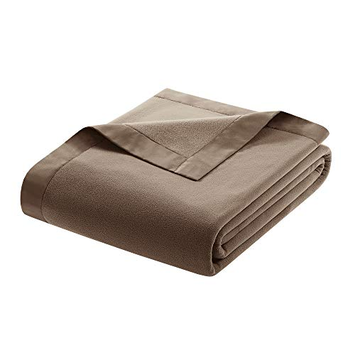 True North by Sleep Philosophy Premier Comfort Micro Fleece Decke, King, Mokka (Micro Decke King)
